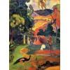 Пейзаж с пауни на Пол Гоген, пелерина за дъжд