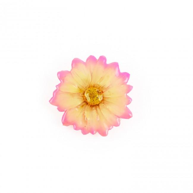 Медальон/брошка Хризантема Бенджамас, розово-бежова