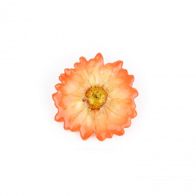 Медальон/брошка Хризантема Бенджамас, оранжев
