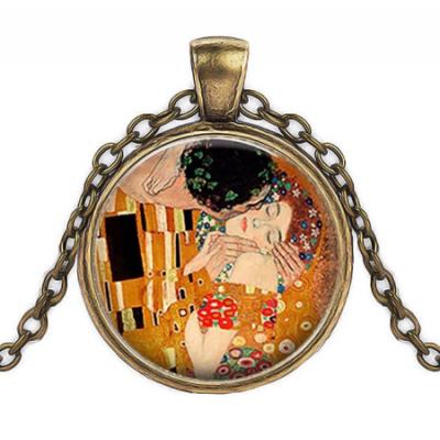 Античен медальон Целувката на Климт