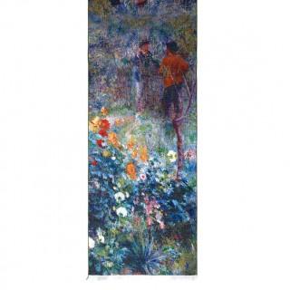 Дълъг шал, Градината на ул. Корто в Монмартър на Реноар
