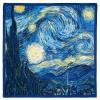 Звездна нощ на Ван Гог, квадратен шал от сатен