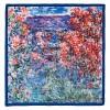 Къщата на Моне в Живърни под розите, квадратен шал от сатен