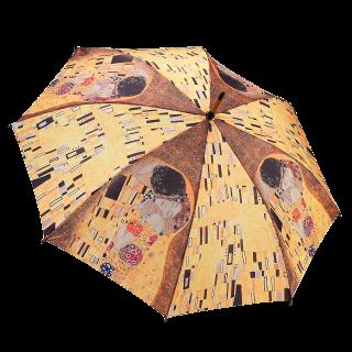 Целувката на Густав Климт, прав чадър