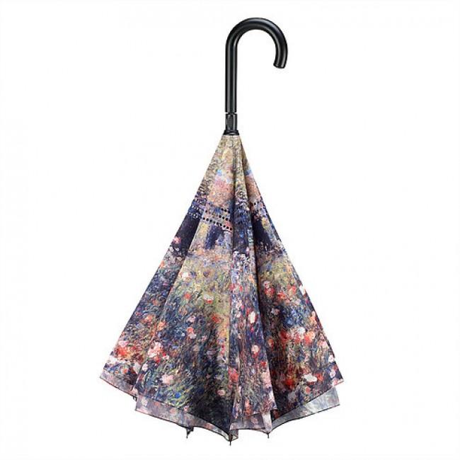 Жената с чадъра в градината на Реноар, прав, обратнозатваряем чадър