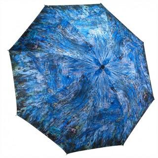 Водни лилии и отражение на върба, сгъваем, обратнозатваряем чадър