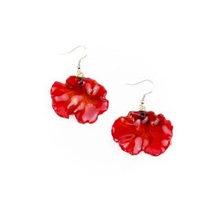 Обици Орхидея Онцидиум, червени