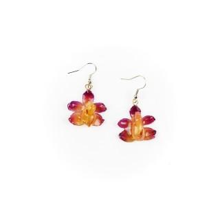 Обици Орхидея Аеридис Розеа, лилави