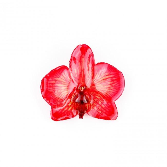 Медальон Орхидея Фалаенопсис, червен