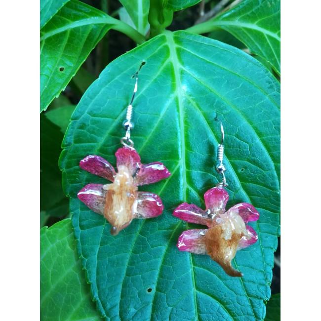 Обици Орхидея Аеридис Розеа, розови
