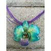 Медальон Орхидея Дендробиум Луси, тюркоаз