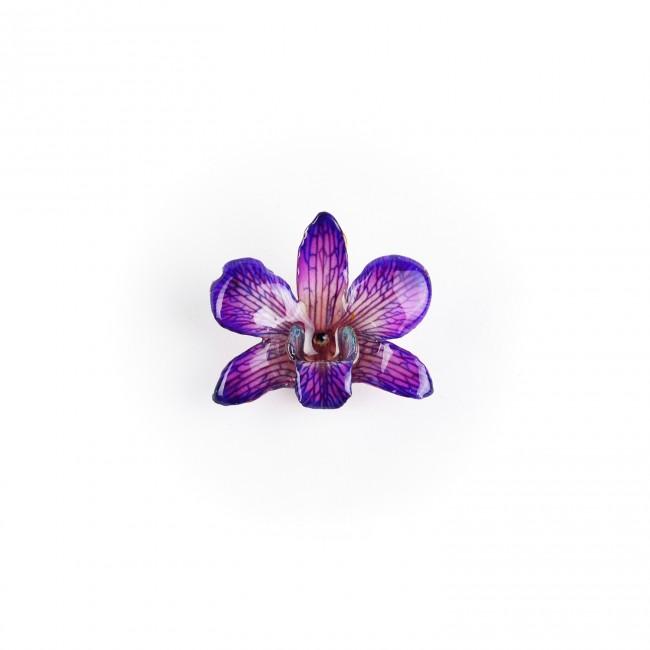 Медальон Орхидея Дендорбиум Луси, лилава