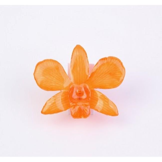 Медальон Орхидея Дендорбиум Луси, оранж