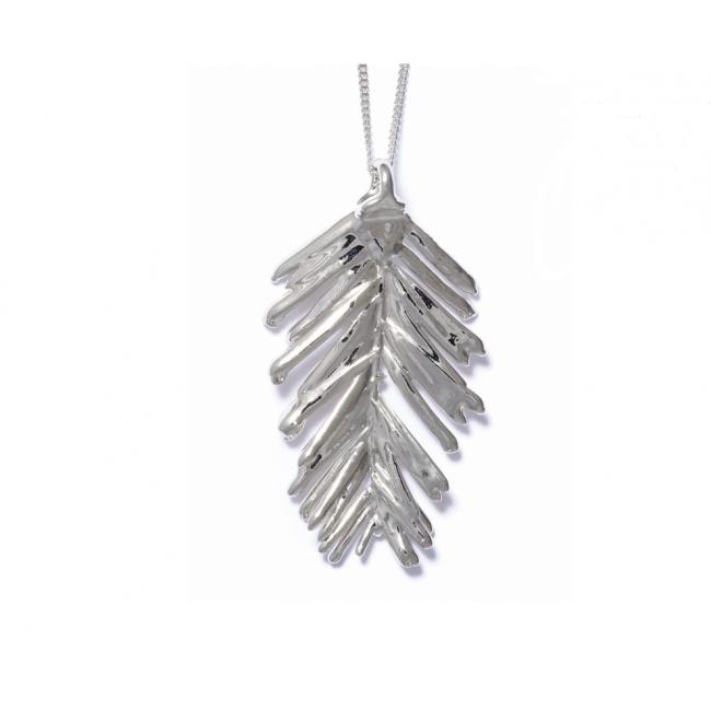 Медальон с посребрено листо от секвоя