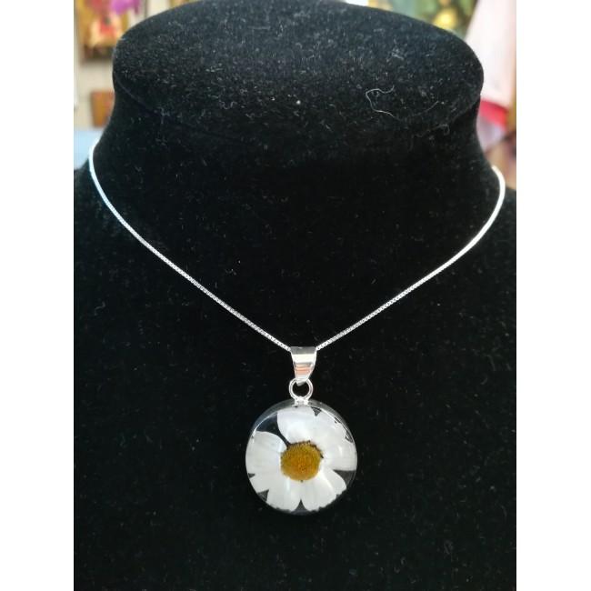 Сребърен медальон, голям кръг, Бяла Маргарита