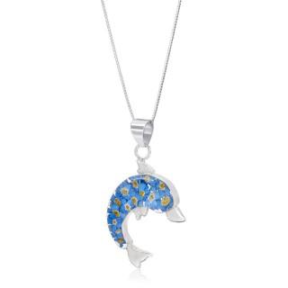 Сребърен медальон, делфинче, Незабравка