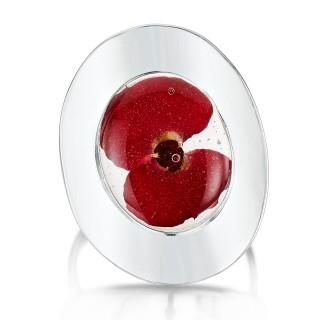Сребърен пръстен, Мак, овал