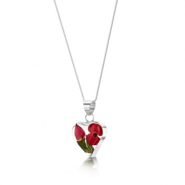 Сребърен медальон, сърце, малко, Бохемия