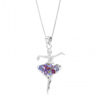 Сребърен медальон, балерина, Виолетова Омая