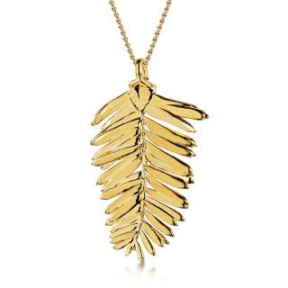 Медальон позлатено листо от секвоя