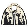 Копринен шал и чанта, Черни котета + подарък
