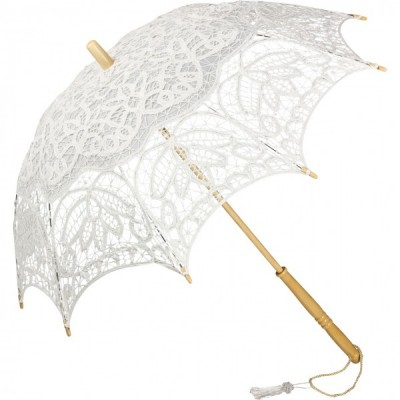 Дантелен чадър Вивиен, бял