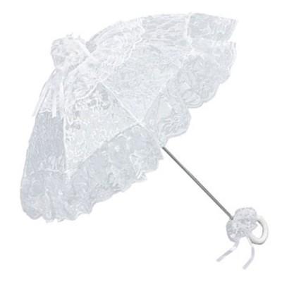 """Дантелен чадър """"Жозефин"""", бял"""