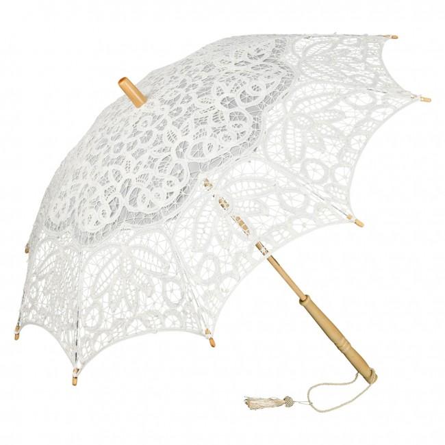 Дантелен чадър Вивиен, слонова кост