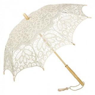 Дантелен чадър Вивиен, крем