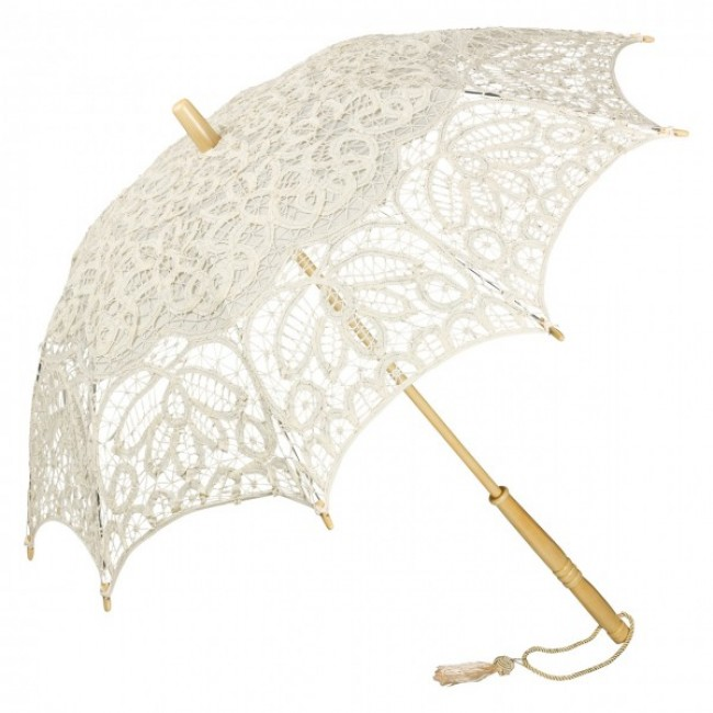 """Дантелен чадър """"Вивиен"""", крем"""