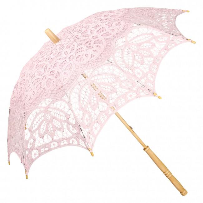Дантелен чадър Вивиен, светлорозов