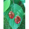 Обици и медальон от орхидея Белатулулм, червени -20%
