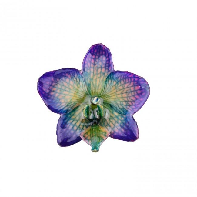 Медальон Орхидея Фалаенопсис, лилаво-зелен