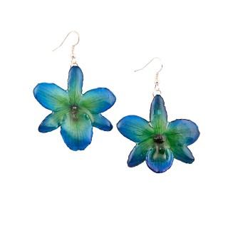 Обици Орхидея Нобайл, хибрид, синьо-лилава