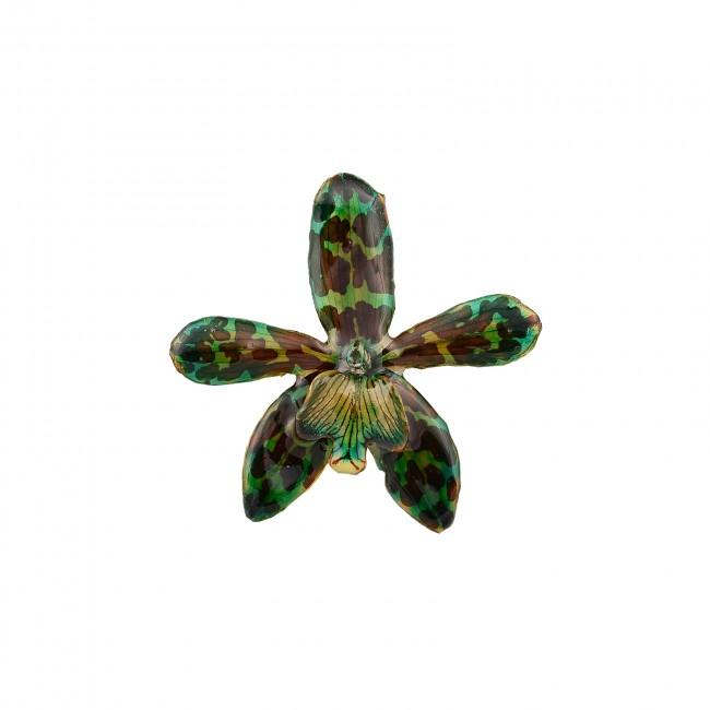 Медальон Тигрова Орхидея, зелена