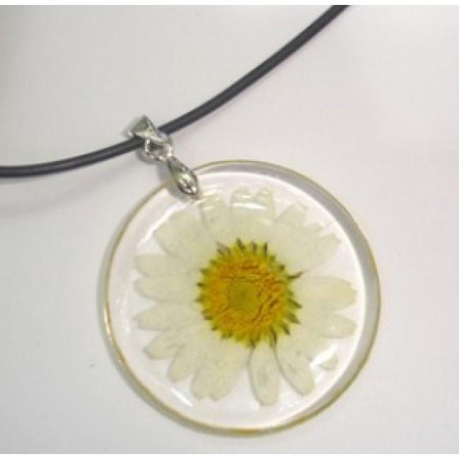 Медальон, силиконова каишка, Бяла Маргарита