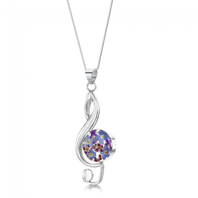Сребърен медальон, Ключ сол, Виолетова омая