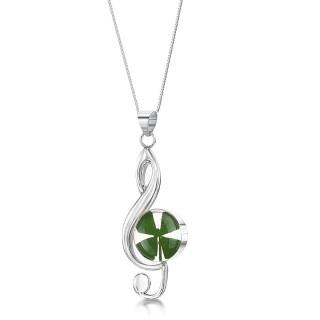 Сребърен медальон, Ключ Сол, Четирилистна Детелина