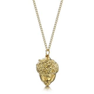 Медальон позлатен жълъд