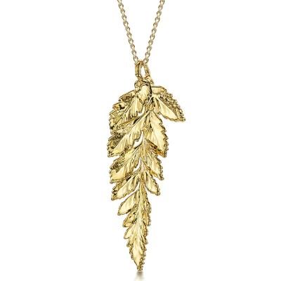 Медальон позлатено листо от папрат