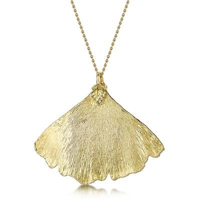 Медальон позлатено листо от Гинко билоба