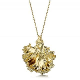 Медальон позлатено листо от къдраво зеле