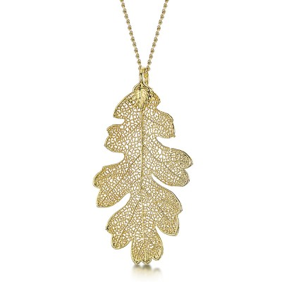 Медальон позлатено листо от дъб