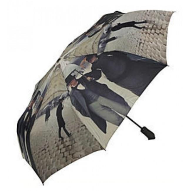 Сгъваем чадър, Парижки улици на Гюстав Кайлебот