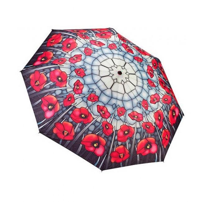 Сгъваем чадър, Макове, стъклопис