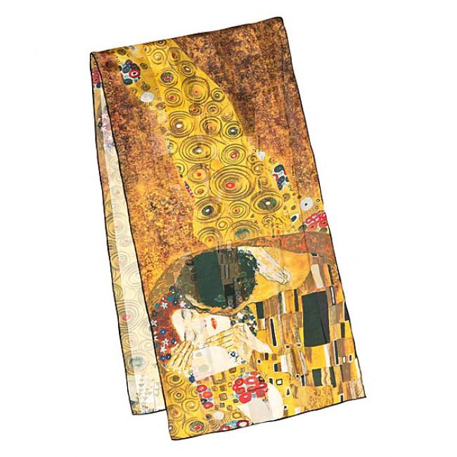 Дълъг шал, Целувката на Климт